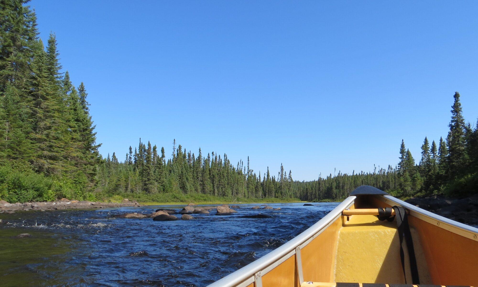 Canoeing across Canada