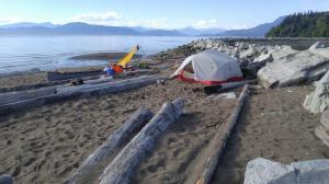 Camping on the Breakwall