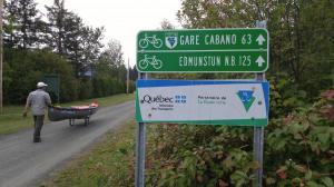 Portaging on Petit Temis, Quebec